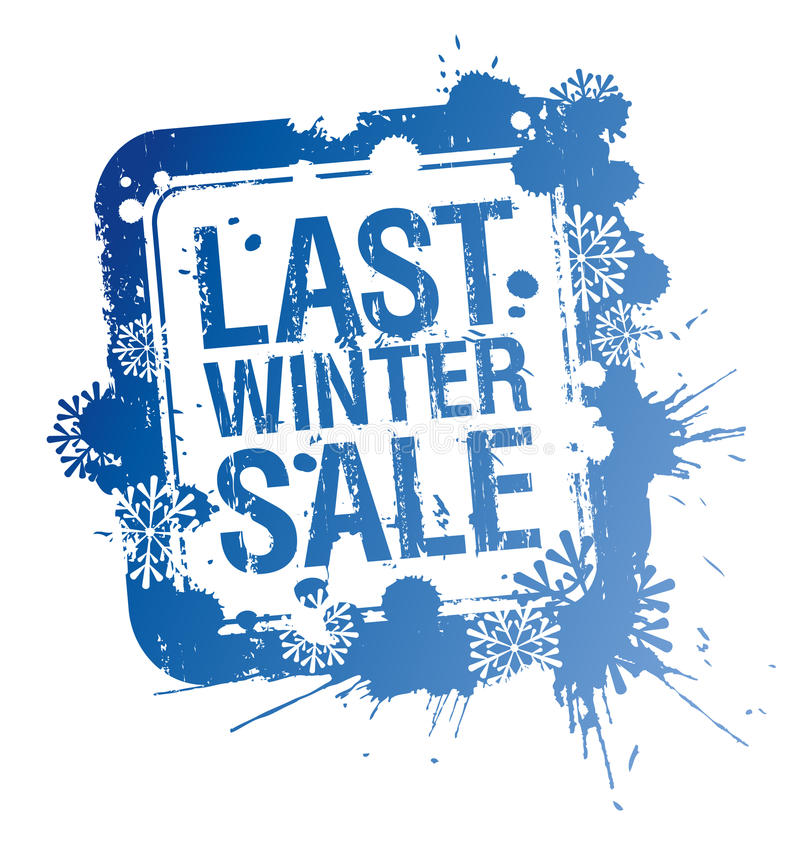 Last winter sale stamp. royalty free illustration