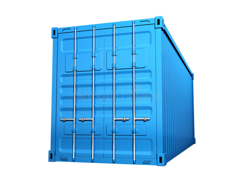 Lastbehållare stock illustrationer