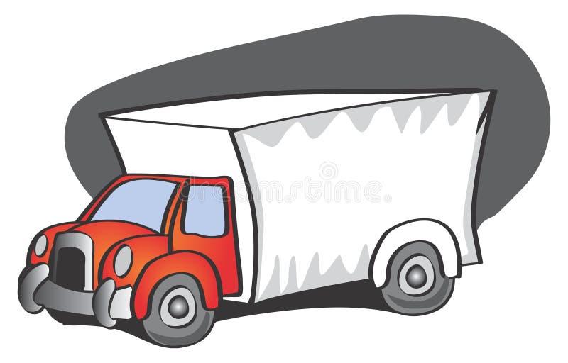 Download Lastbil vektor illustrationer. Illustration av ankomst - 521115