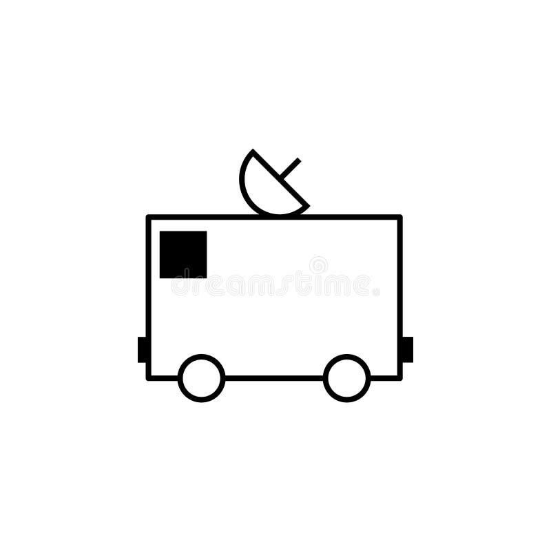 Lastbil antennöversiktssymbol Kan användas för rengöringsduken, logoen, den mobila appen, UI, UX royaltyfri illustrationer