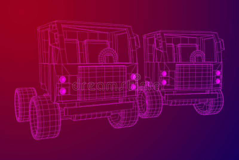 Lastbil- eller lastbilbil vektor vektor illustrationer