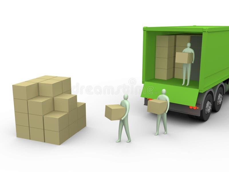 lastbil för 2 last vektor illustrationer