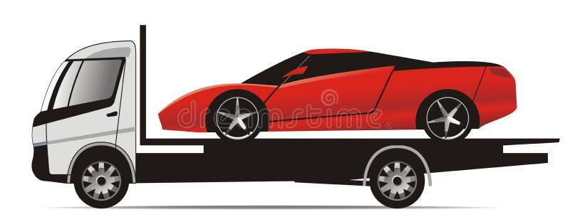 Lastbil För Bilflatbedsportar Arkivbild