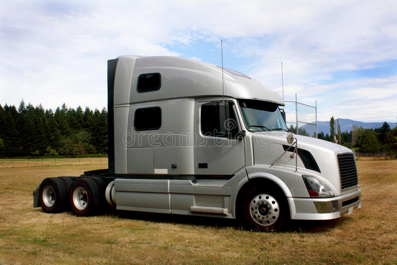 lastbil för cabsleepertraktor royaltyfri foto