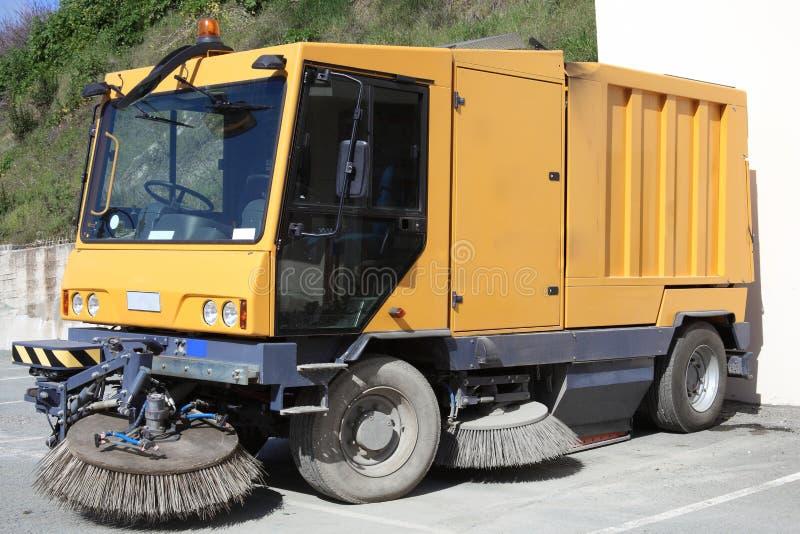 Lastbil för gatarengöringsmedel royaltyfria foton