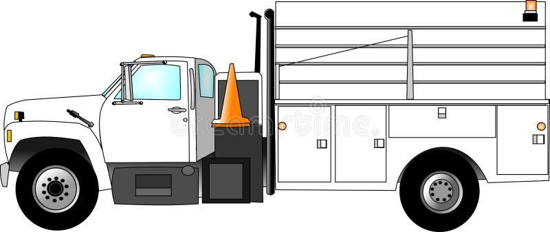 lastbil för konstruktionslag vektor illustrationer