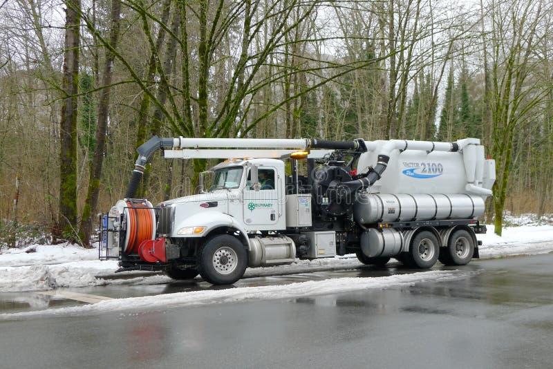 Lastbil för lokalvård för avkloppsystem royaltyfria foton
