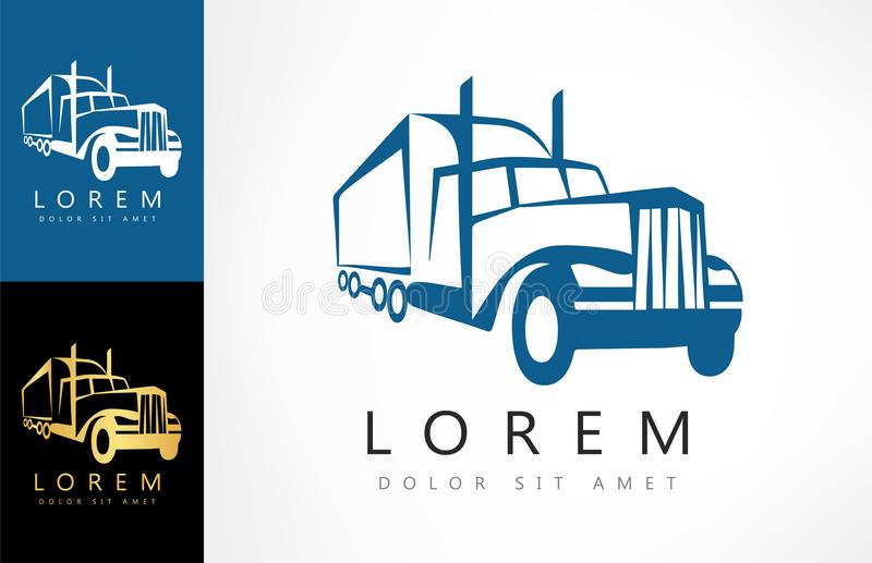 Lastbil Logo Vector vektor illustrationer