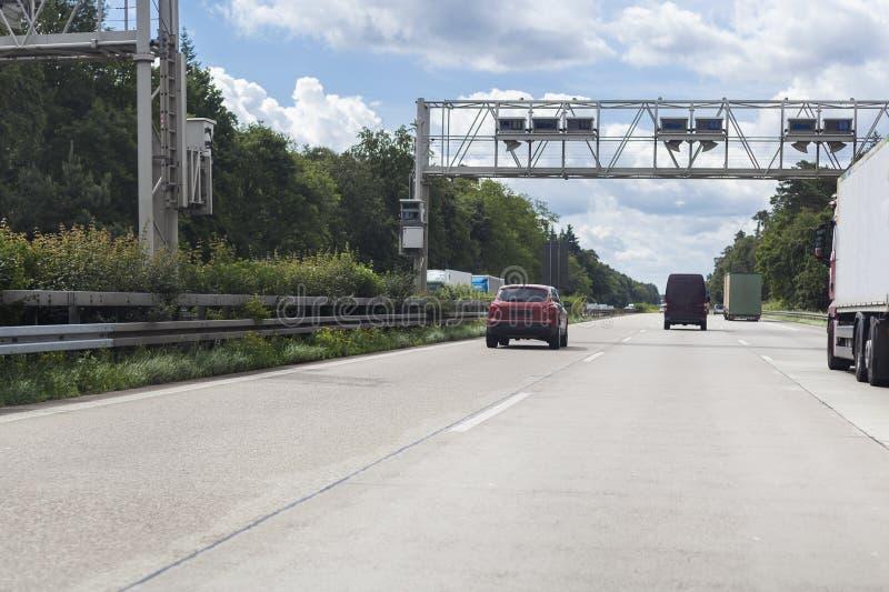 Lastbilavgiftsystem arkivbild