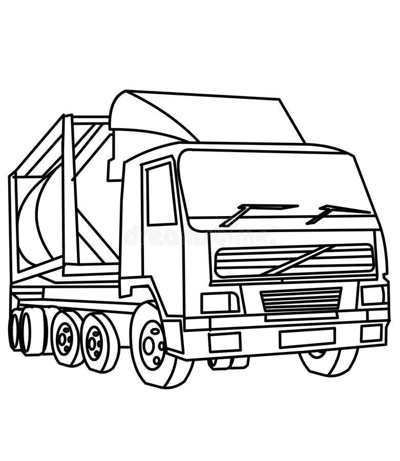 Lastbilfärgläggningsida vektor illustrationer