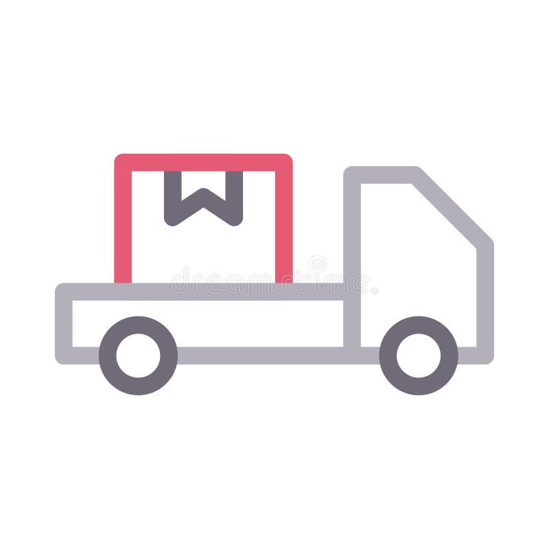 Lastbilfärglinje vektorsymbol vektor illustrationer