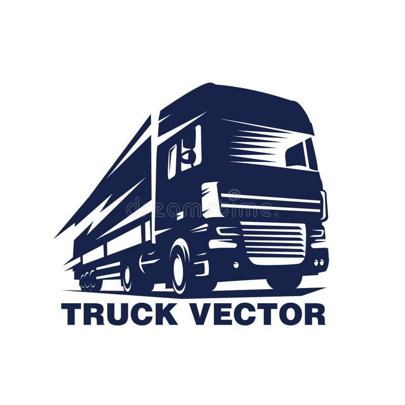 Lastbillogo 100% vektor illustrationer