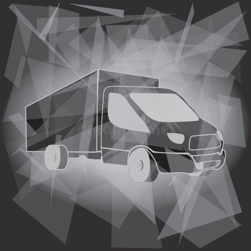 Lastbiltransport Logo Template royaltyfri illustrationer