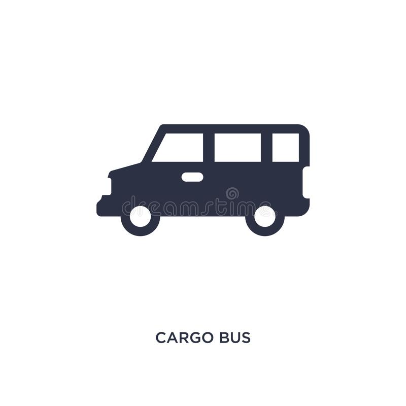 lastbusssymbol på vit bakgrund Enkel beståndsdelillustration från leverans- och logistikbegrepp stock illustrationer
