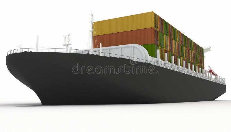 Lastfartyg royaltyfri illustrationer