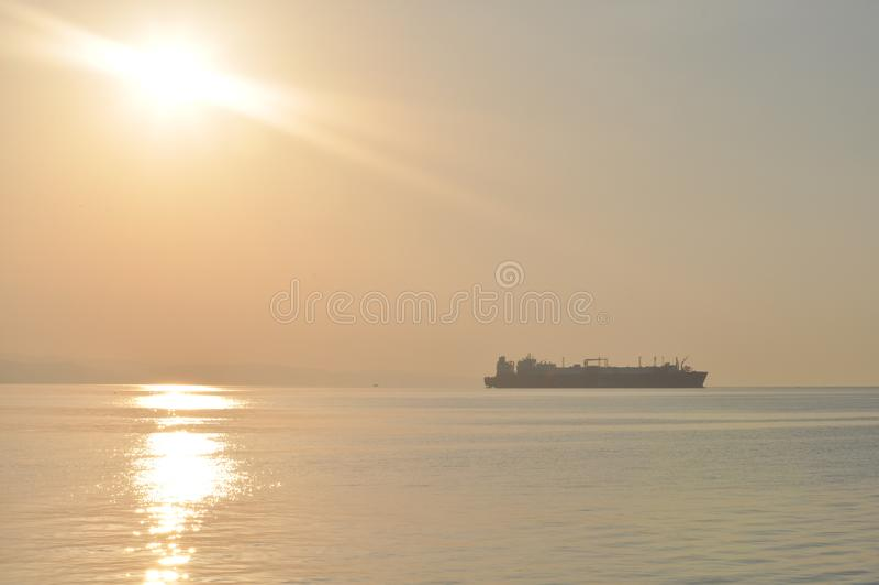 Lastfartygtrans. royaltyfri bild