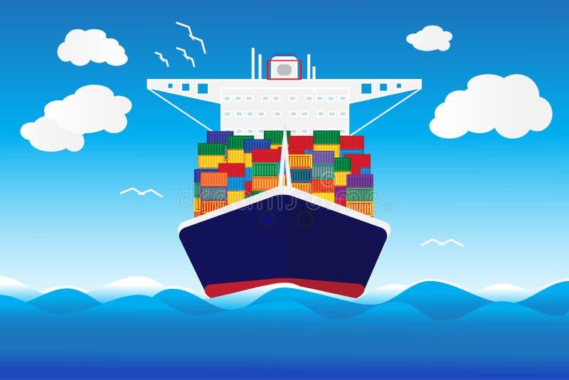 Lastfartygvektor royaltyfri illustrationer