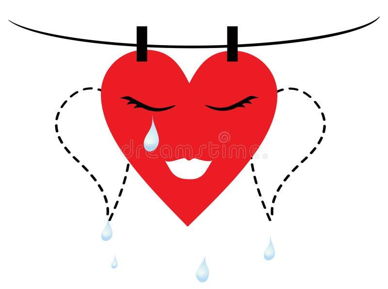 Lastime el corazón stock de ilustración