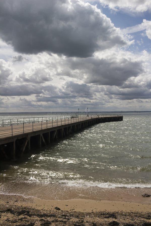 Lastkahn-Pier, Shoeburyness, Essex, England lizenzfreie stockfotografie