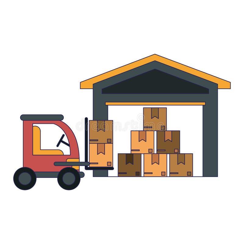Lastmedel och lager stock illustrationer