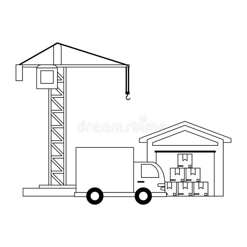 Lastmedel och lager vektor illustrationer