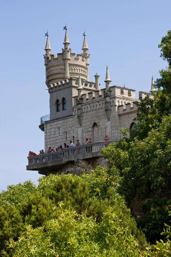 Lastochkino Gnezdo - borne limite de Yalta photo stock