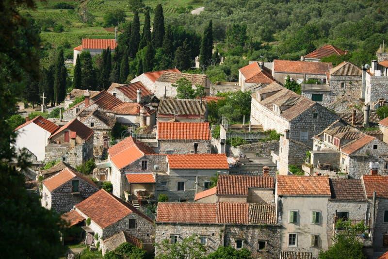 Lastovo town på ön Lastovo i Kroatien royaltyfria bilder
