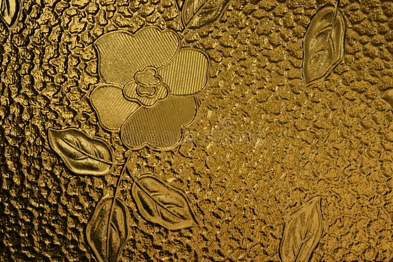 Download Lastra Di Vetro Decorata Con Il Fiore Immagine Stock - Immagine di particolari, vitroso: 207175