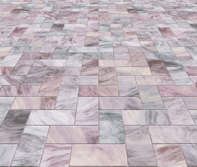 Lastricatori o mattonelle di marmo illustrazione di stock
