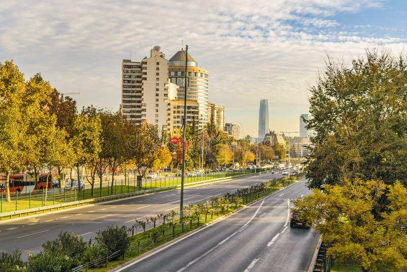Lasu Condes okręg, Santiago de Chile obrazy stock