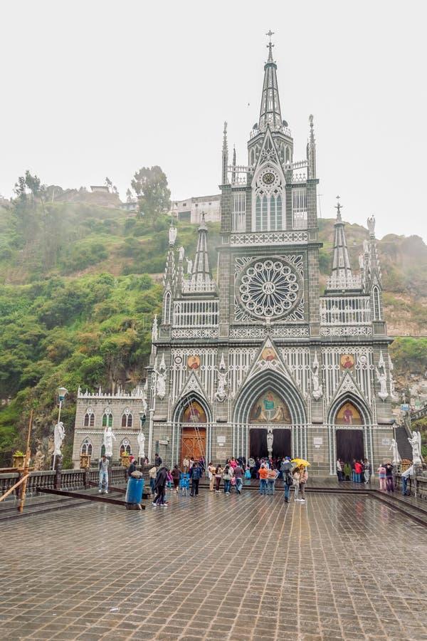 Lasu Lajas sanktuarium Jest bazyliki kościół fotografia royalty free