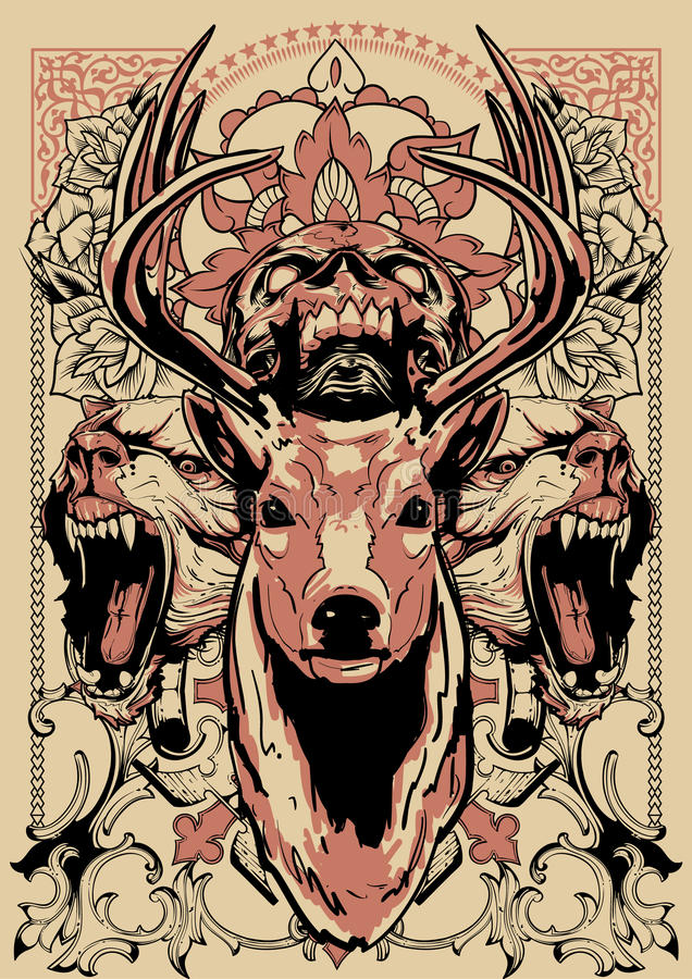 Lasu strażnik ilustracja wektor