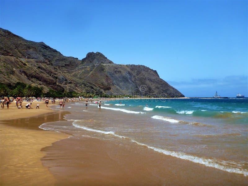 Lasu Teresitas plaża zdjęcie stock