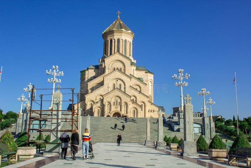 Lasu Velas De Los angeles Iglesia ortodoxa se venden en lasy Calles de Gruzja tbilisi fotografia stock
