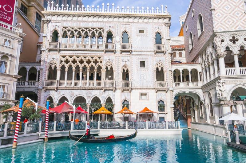 Lasvegas, Nevada, de V.S. 5-29-17: Het Venetiaanse Toevluchthotel & het Casino royalty-vrije stock fotografie