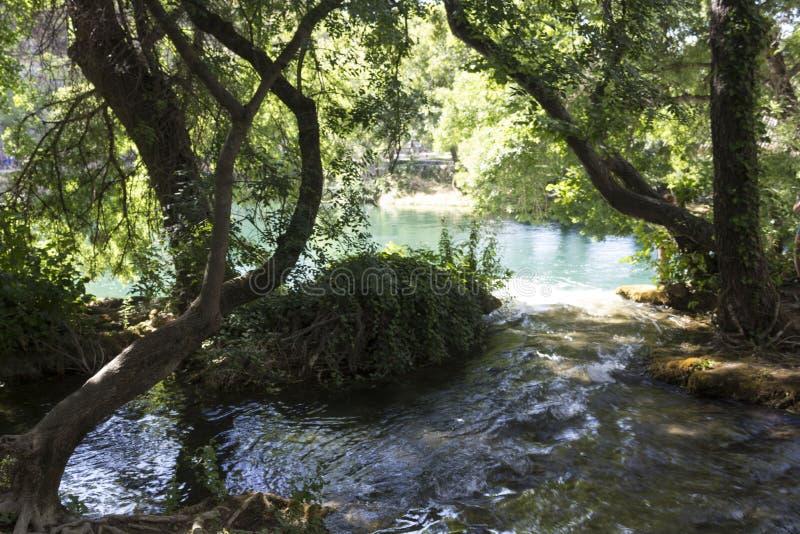 Lasy i wodna rezerwa Krka park narodowy w Sibenik obraz stock