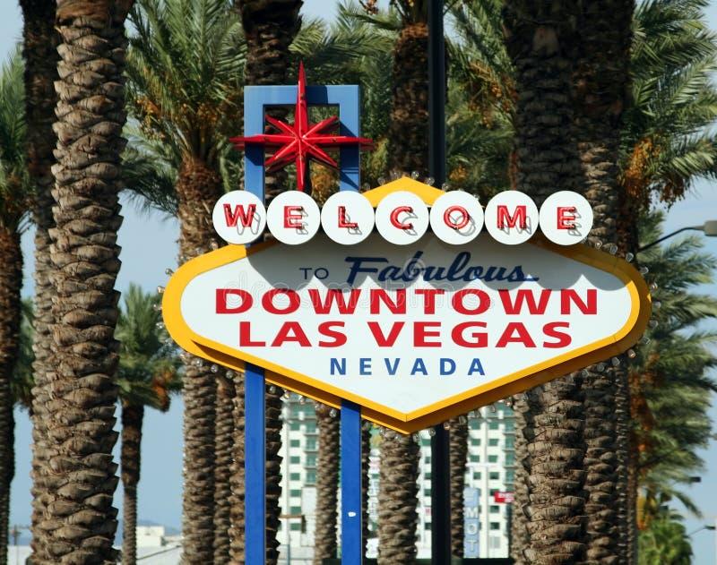 lasy podpisują Vegas obraz royalty free