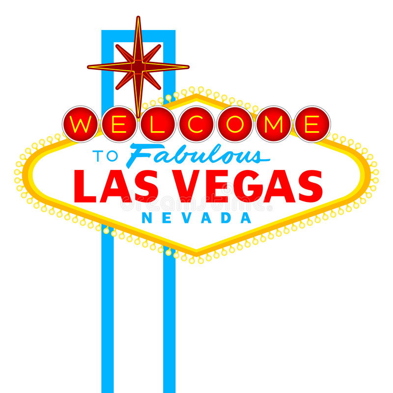 lasy podpisują Vegas ilustracja wektor