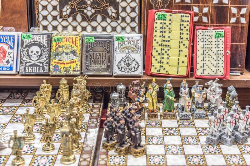 Latón hecho a mano decorativo, ajedrez del metal imagen de archivo