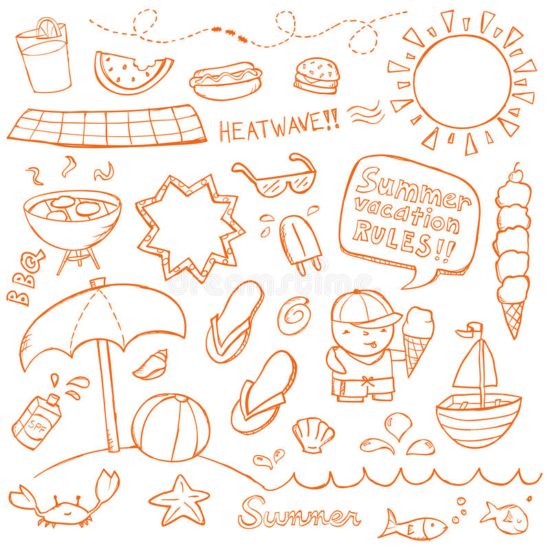 Lat Doodles zdjęcie royalty free