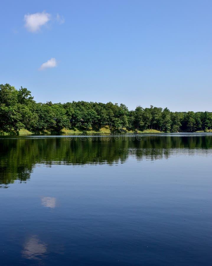Download Lat Drzewa I Niebo Odbijaliśmy W Jezioro Wodzie Zdjęcie Stock - Obraz złożonej z natura, tła: 106912026