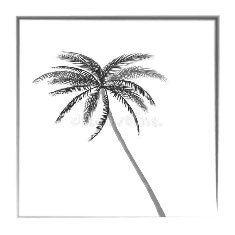 Lat drzewek palmowych zmierzchu tło również zwrócić corel ilustracji wektora 10 eps ilustracji