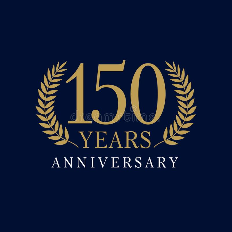 150 lat luksusowy logo ilustracji