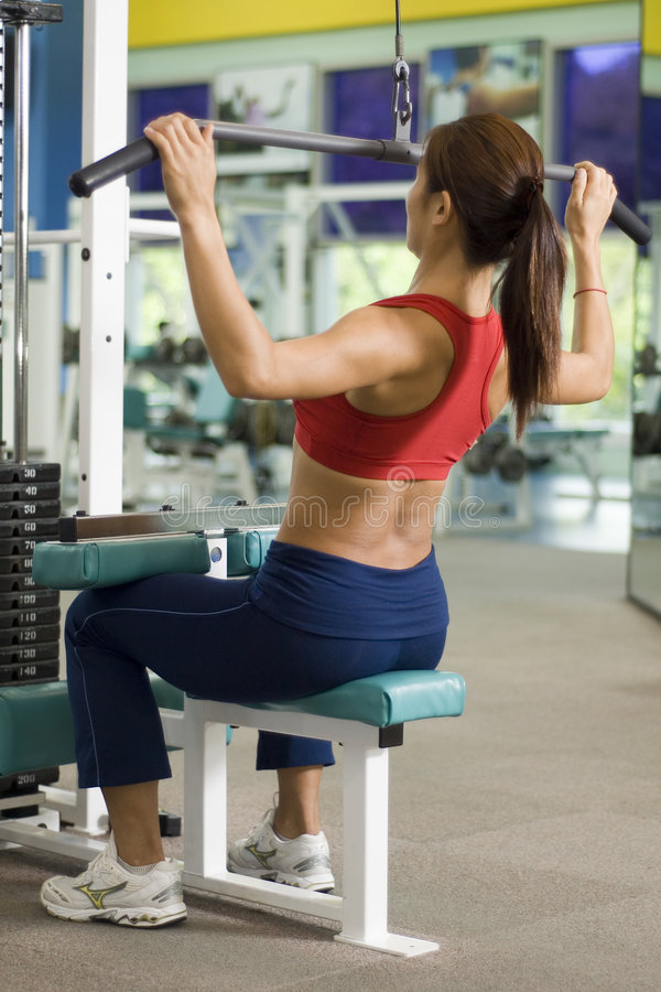 Download Lat Pulldown 2 stock photo. Image of sports, dorsi, machine - 152270