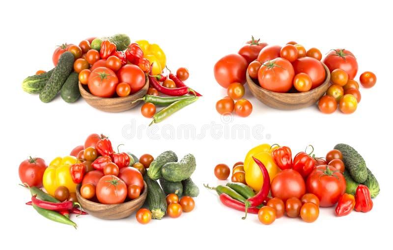 Lat warzywa odizolowywający na białym tle zdjęcia royalty free