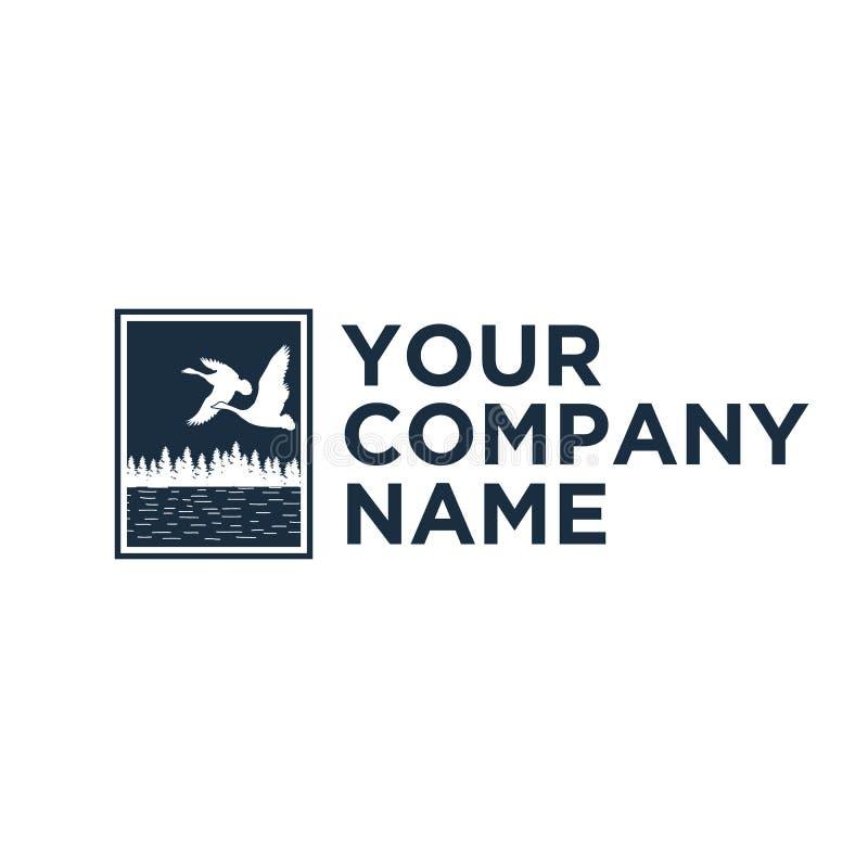 Latać kaczka logo projekty ilustracji