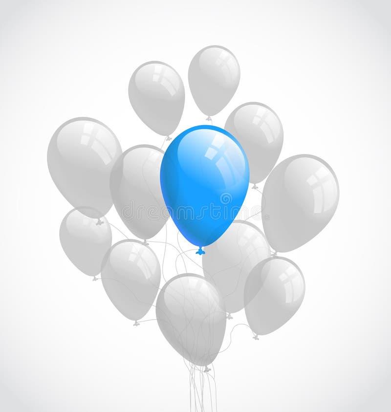 Latać balony. Wektorowy tło royalty ilustracja