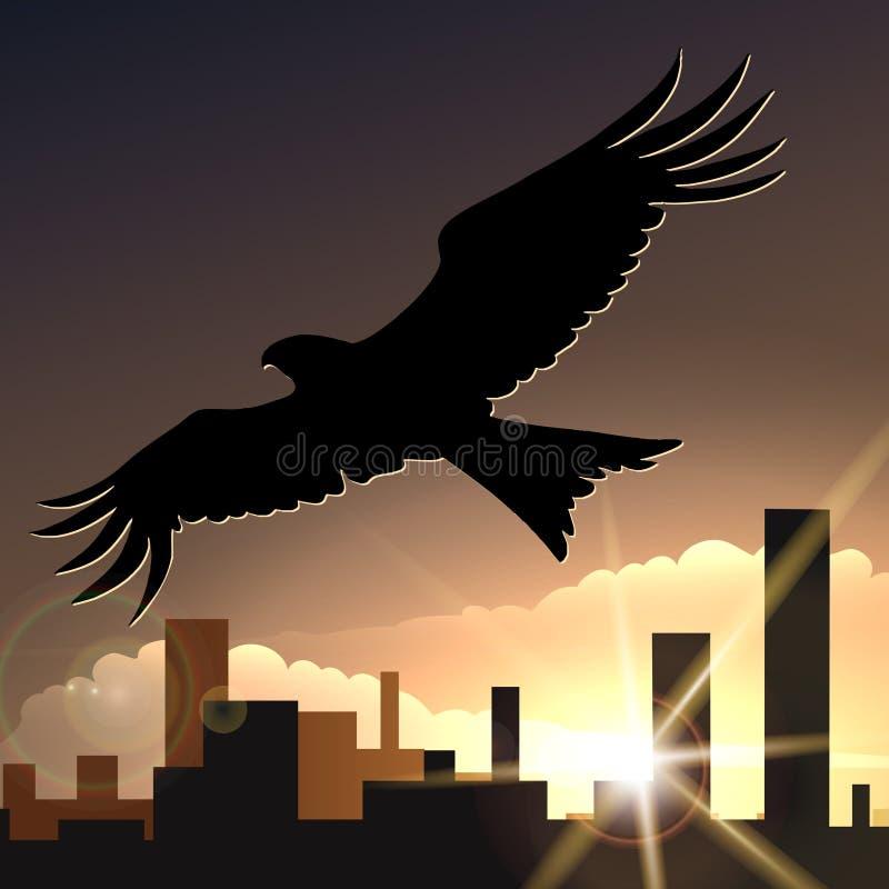 Latać Eagle ilustracji