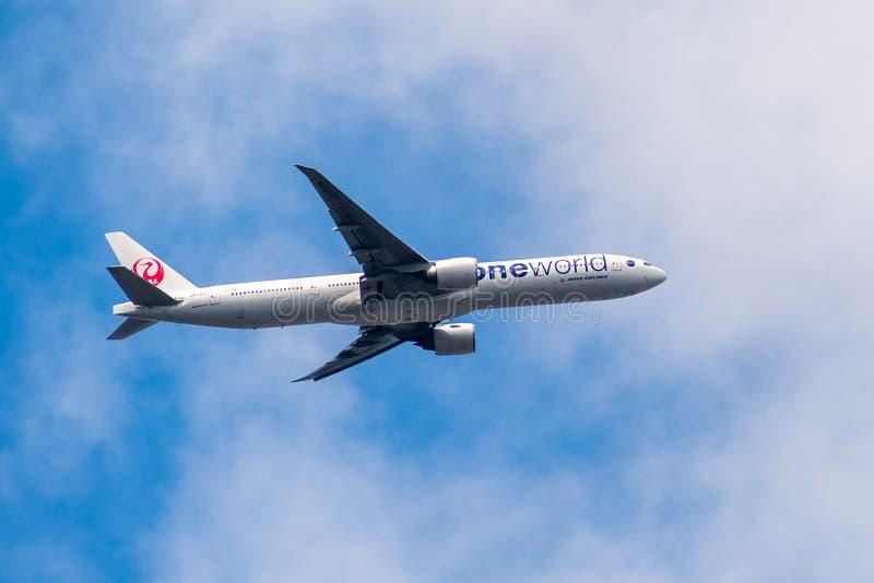 Latać Japonia linii lotniczej samolot fotografia stock