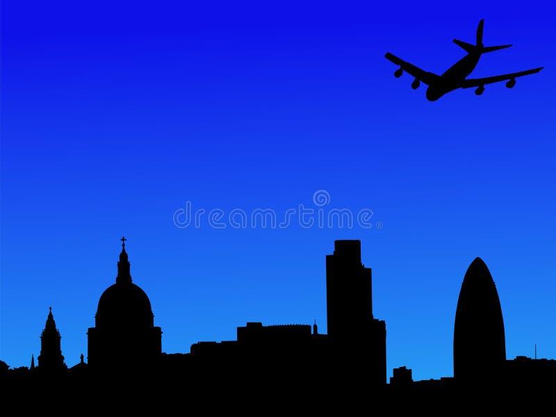 latać samolotem w Londynie ilustracja wektor
